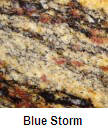Blue Storm color granite countertop