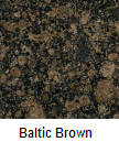 Baltic brown color granite countertop