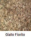 Giallo Fiorito color granite countertop